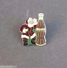 Vintage Coca - Cola Advertising Christmas Santa RETRO BUTTON PIN BACK