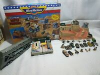 vintage 1991 Micro Machines Military Battle Fortress Playset Galoob And Extras