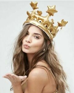 INFLATABLE CROWN KING OR QUEEN FOR DAY CHRISTMAS BLOW UP GIFT NEW FUN TOY ADULT