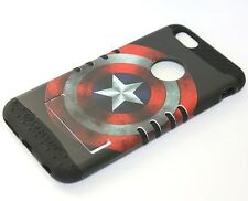 For iPhone 6+ / 6S+ Plus - HARD&SOFT RUBBER HYBRID ARMOR CASE CAPTAIN AMERICA