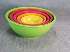 Zak! Designs Rainbow Color Mixing Nesting Bowls Set of 5 Melmac Melmaline EUC