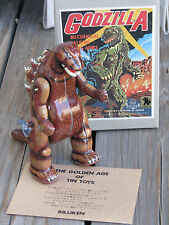"RARE ~ GODZILLA Mechanical Walking Wind Up 7"" Tin Toy BILLIKEN Japan 1989 ~ GUC"
