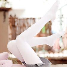 Women Lady White Cream Velvet Elastic Seamless Pantyhose Sweet Ballet Tights