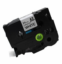 24mm Black on White Label Tape Maker For BROTHER P-Touch TZ-151 TZ-155