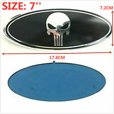 7inch Black Oval Punisher Emblem Grill Trunk Badge For FORD F150 F250 F350