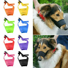 Adjustable Nylon Dog Safety Muzzle Muzzel Biting Barking  Chewing All Sizes,