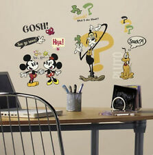 MICKEY MOUSE classic Disney cartoons  wall stickers 27 decal retro shorts Minnie