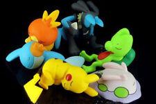 6pcs/Set Pokemon Pikachu Treecko Mudkip Torchic Sleep Ver. PVC Figure Toy XY02