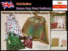 40 pcs Christmas Set Ribbon Gift Wrapping Giftbags The Quickest Way To Wrap