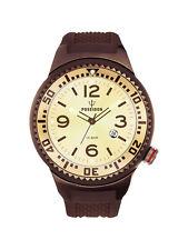 POSEIDON Unisex-Armbanduhr S Analog Silikonband UP00422 Braun/Champ. UVP 129,- €