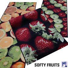 Bar + Küchen Teppich Läufer SOFTY FRUITS Orangen, Erdbeeren o. Äpfel in 2 Größen