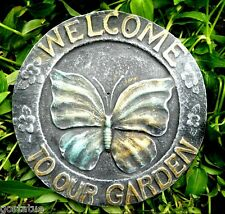 Gostatue butterfly welcome mold concrete plastic plaster cement mould
