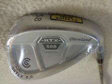 Cleveland 588 RTX 2.0 Satin Chrome CB 58* Lob Wedge w/DG Wedge Flex Steel Shaft