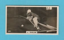 BILLIARDS - BRITISH AMERICAN TOBACCO - SCARCE BILLIARDS CARD -  EARLAM  -  1926