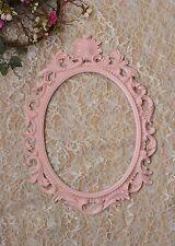 Pink Baroque Oval Frame French Style Open back Ornate Wedding Portrait Nursery