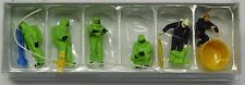Preiser 1/87 HO Firemen GREEN Chemical HAZMAT Resistant Suits FIGURE SET 10731