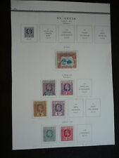 Stamps - St. Lucia - Scott# 49-51, 53-54, 57-58