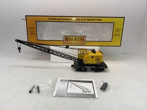 MTH RailKing 30-79521 American Steel American Crane Car New O Gauge