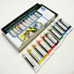 Water colour Art Paint Kids Artist School Painting Children 10 Tubes Set - 12ml