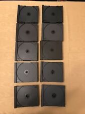 JOB LOT 50 CD CASE INNERS: BLACK. NO FAULTS ALL CHECKED. TEETH INTACT