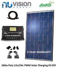JINKO 260W POLY 12V/24V PWM Solar Panel Kit 3 Year Kit Warranty ABS Mounting