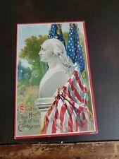Vintage 1900s Patriotic July 4th Gar Postcard