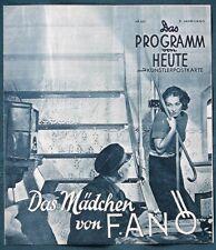 Das Mädchen von Fanö - orig 1941 German Film Program