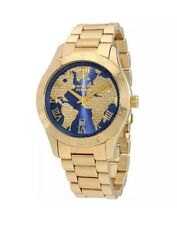 Michael Kors Layton Blue Crystal Pave Dial Gold-tone Unisex Watch MK6243