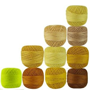 Crochet Thread Cotton Mercerized Knitting Yarn Embroidery Craft Yarn Size 40