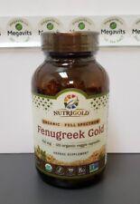 NutriGold Fenugreek Gold 750mg 120 Organic Veggie Capsules - Herbal Supplement