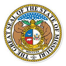 """Missouri State Seal car bumper sticker decal 4"""" x 4"""""""