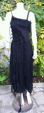 Sublime robe de soirée Zapa taille 38 en soie TBE, bohème chic!