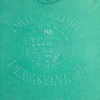 Vintage 90s Philadelphia Pennsylvania Mens T-Shirt Sz XL Made USA Single Stitch