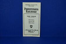 Pennsylvania Railroad Timetable 4/27/1947 Philly Chestnut Hill White Marsh 1st