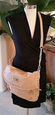 ALDO Camel Tan Beige Messenger Crossbody Purse Bag Tote Gold Chain NWD