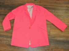 River Island Bright Pink Knitted Duster Coat Size UK 10