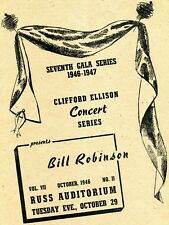 1946 Bojangles Bill Robinson Concert Program Russ Auditorium San Diego Ca