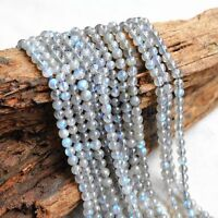 "6mm Natural Smooth A++ Labradorite Gemstone Round Loose Beads 15"" Strand"