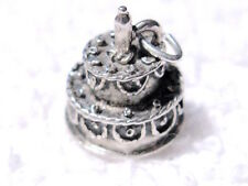 SWEET! Estate 50s-60s vtg Ster CHARM -3D Happy BIRTHDAY CAKE one candle by BEAU