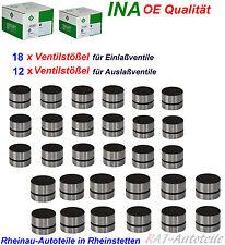 INA 18xVentilstößel Einlaß+12xVentilstößel Auslaß AUDI SEAT SKODA VW 2.7 2.8 3.0