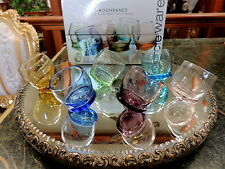 6 UNIQUE Colorful Barrel Shape Shot Glasses Rolly Polly NEW IN BOX!