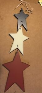 """metal red white blue barn stars country americana wall decor SIGN 5.5"""" star"""