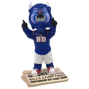 Buffalo Bills Billy Buffalo Drought is Over 2017 Playoffs Mascot Bobblehead NFL
