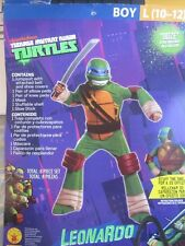 Nickelodeon TMNT Ninja Turtles Leonado Costume 8 Pieces Boys Large 10 - 12