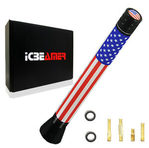 """JDM Mini 5"""" United State Country Flag Universal Fit Vehicle AM/FM Antenna Y477"""