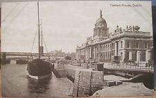Irish Postcard CUSTOM HOUSE DUBLIN River Liffey Quays Ireland Valentine Series