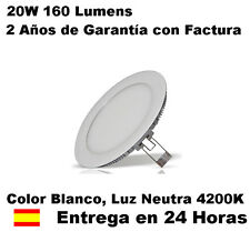 Downlight LED SLIM extraplano 20W Luz Blanca Neutra 4200K, 1600 Lúmen 120 LEDS