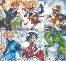 2013 Women Of Marvel 2 Rhiannon Owens AUTOGRAPH ARTIFEX Full Set AO1-9 (1:Case)