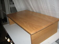 """EX-LARGE DANISH OIL- OPEN BACK - 30""""W X 17"""" DEEP X 8"""" HIGH-By Syracuse TV Risers"""