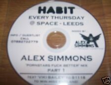 DJ ALEX SIMMONS ELECTRO HOUSE MIX CD - HABIT - LISTEN